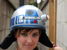 DIY R2D2 Bike Helmet