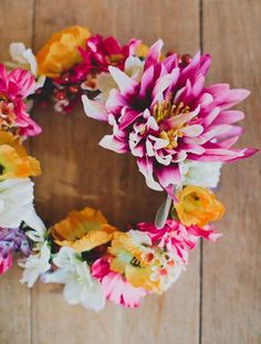 DIY Silk Flower Crown with Afloral