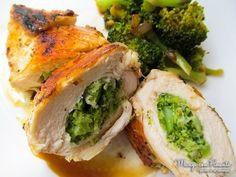 Frango recheado com brócolis.   13 receitas para comer melhor se você tem paladar infantil