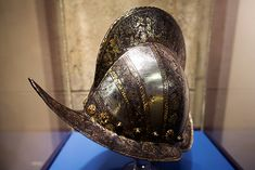 This helmet from 1585 was probably worn by a German bodyguard to a noble family.