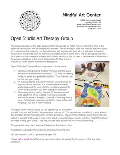 This open studio process gives you an opportunity to learn about yourself from yourself through the process of making art. What Is Art Therapy, Make Art, Social Skills, Gain, Clarity, Opportunity, Improve Yourself, Insight, Mindfulness