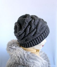 Womens Hat Slouchy Beanie Slouch Hats Oversized by recyclingroom, $32.00