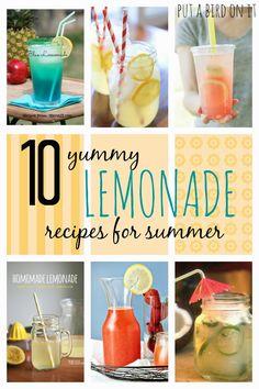 Put A Bird On It: 10 Yummy Lemonade Recipes for Summer