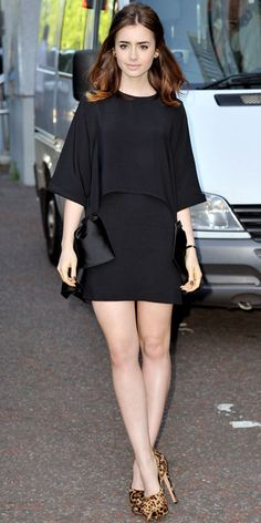 Lily Collins' Best Looks on The Mortal Instruments Press Tour - London from #InStyle