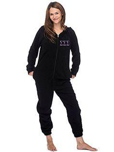 5995585364 Sigma Sigma Sigma Sorority Lounger Onesie (M) Sorority Le... Holiday Pajamas