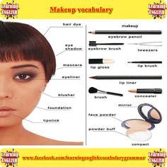 makeup vocabulary  - learning basic English