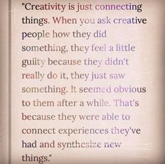 For those with creative minds?
