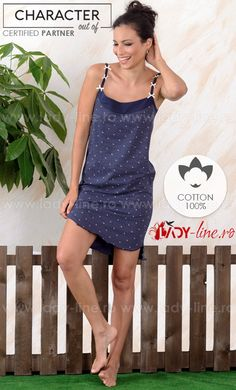Camasa de noapte din bumbac brand 'CHARACHTER Out Of' calitate superioara. Anchor, Pajamas, Lady, Blue, Dresses, Fashion, Pjs, Vestidos, Moda