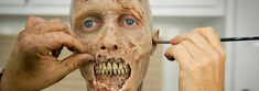 'The Walking Dead' Makeup Artist Shows How Creepy, Yet Fascinating Zombies Are Created Walking Dead Makeup, The Walking Dead, Makeup Fx, Movie Makeup, Scary Makeup, Zombie News, Special Effects Makeup Artist, Zombie Prom, Dead Zombie