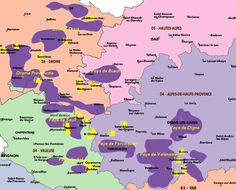 Provencal Lavender Fields Map--on my bucket list...now I know exactly where to go!