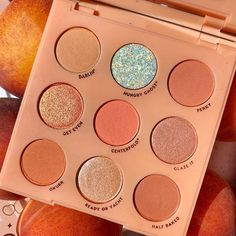 what shade is the prettiest one from this palette? 🍑 Feauring: Baby Got Peach… what shade is the prettiest one from this palette? 🍑 Feauring: Baby Got Peach palette Make Up Palette, Peach Palette, Colourpop Cosmetics, Makeup Cosmetics, Skin Makeup, Eyeshadow Makeup, Makeup Brushes, Colourpop Eyeshadow Palette, Makeup Primer