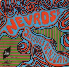 Jacques DenjeanNevrose1968 classic rock psychedelic concert poster