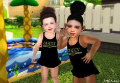 Gucci swimsuit - seasons ep required simfileshare - the sims 4 kids Sims 4 Toddler Clothes, Sims 4 Cc Kids Clothing, Sims 4 Children, 4 Kids, Sims 4 Cc Skin, Sims Cc, Bikini, Sims 4 Seasons, The Sims 4 Bebes