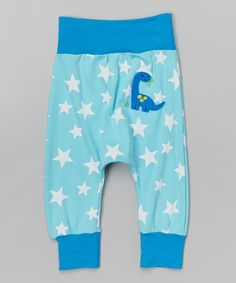 Love this Turquoise Star Dinosaur Harem Pants - Infant & Toddler on #zulily! #zulilyfinds