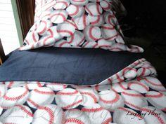 Baseball Dreams for Boys  Cozy Fleece Bedding  by LazyBugFleece, $140.00