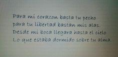 Poemas de amor de Pablo Neruda, aqui solo un fragmento de uno de ellos.