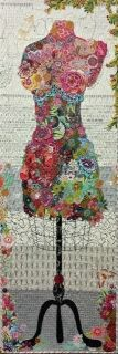 Love this. Perfect Form...Dress Form Collage Pattern by Laura Heine