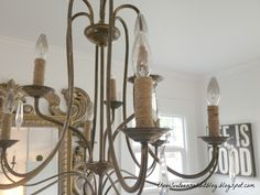 Diy Rope Chandelier Diy rope chandelier cord cover shes crafty pinterest easy diy chandelier makeover jute cord hot glue and some time audiocablefo