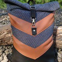 Nähanleitung Rucksack VARO von Hansedelli Rucksack nähen Schnittmuster Turnbeutel Shoppingbag gymbag backpack sewing nähen für Männer