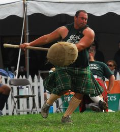 Athlete competing in the Sheaf toss in the Highland Games, kilts for athletes Scottish Highland Games, Scottish Highlands, Celtic Mythology, Men In Kilts, Powerlifting, Perfect Man, Tartan, Olympics, Hot Guys