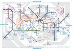 Como andar de metrô em Londres - mapa