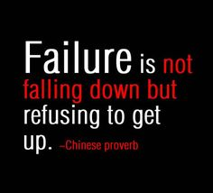 Motivational Quote: Failure is not falling down, but refusing to get up. Chinese…