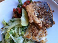 David Hall: Coriander Crusted Seabass with Fennel and Lentil S...