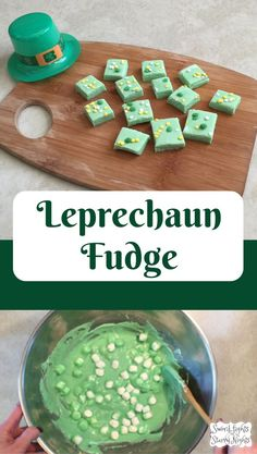Leprechaun Fudge - An easy and festive dessert for St. Patrick's day, patricks day party food for kids Leprechaun Fudge - An easy and festive dessert for St. Dessert Party, Oreo Dessert, Pumpkin Dessert, Mini Desserts, Party Desserts, Holiday Desserts, Holiday Candy, Holiday Themes, Holiday Baking