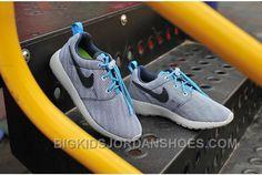 Kids Nike Roshe Run Mesh Black Stripe White Blue Cheap Jordans, Kids Jordans, Jordan Shoes For Kids, Super Deal, Nike Roshe Run, Cheap Shoes, Grey Top, Kid Shoes