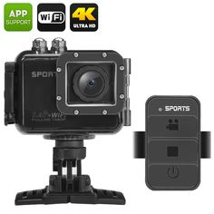 """Capture stunning footage in ultra HD and instantly share over Wi-Fi with the action camera """"PowerVision"""" coming with a waterproof case. Wi Fi, Best Online Clothing Stores, Camera Prices, Sports Camera, Tech, Wide Angle, Night Vision, Remote, Action"""