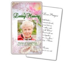 Free Funeral Memorial Cards Template Funeral Prayer Card - Free printable funeral prayer card template