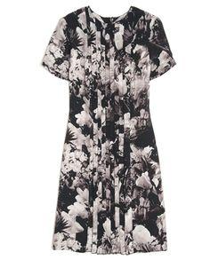 CHRISTOPHER KANE  FLORAL PRINT PLEAT DRESS