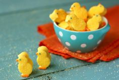 http://tastykitchen.com/recipes/desserts/homemade-marshmallow-chicks.  Takes awhile, but still looks like a fun idea!
