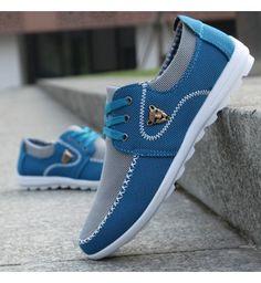 Sapatênis Masculino Azul Claro Merkmak Lona - Compre Agora  7d2a01509f2
