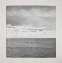 Gerhard Richter :: Seestück I / Seascape I, 1969 [based on a montage of the artist's own photographs in which the sky has been turned upside down]