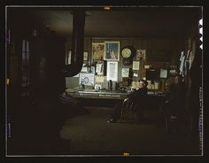 The yardmaster's office at the receiving yard, North Proviso(?), C & NW RR, Chicago, Ill. (LOC)