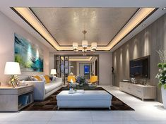 40 Living Rooms Ceiling Design Ideas That Very Recommended This Year House Ceiling Design, Ceiling Design Living Room, Bedroom False Ceiling Design, Living Room Designs, House Design, Hall Interior Design, Home Interior, Living Room Interior, Home Living Room