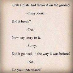 Can't fix what was broken  #trust #lies #relationships