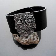 Tool - srebrna skórzana bransoleta