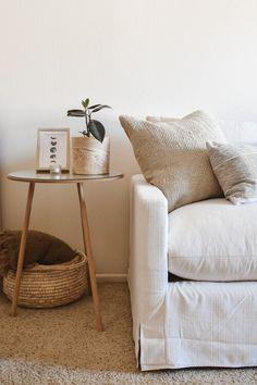 Portfolio — Nicole Russell Interiors Minimalist Living, Dining Room, Interiors, Throw Pillows, Bed, Table, Furniture, Home Decor, Minimal Living