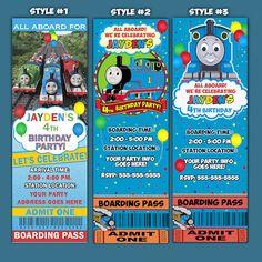 thomas the train birthday invitations template v87VGEoX