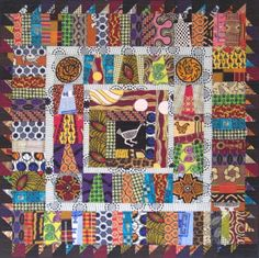 There's a vendor from Ghana who sells African scrap bundles and yardage off the bolt. I bought some of his fabrics at the last Empire Quilt. African Quilts, African Textiles, African Fabric, African Theme, African Art, African Design, African Beauty, Medallion Quilt, Colorful Quilts
