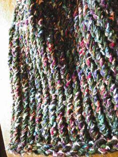 Boho Beanie Knit Hat Pine Green and Multicolor by jamiesierraknits, $15.00