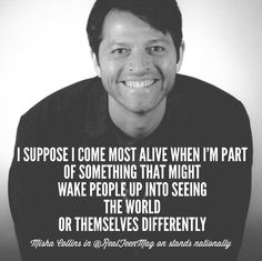 """On The Jazz - Creativity, Self-Discovery and Making Every Day an Adventure  I think this is what makes me love Misha Collins so much. He is the """"Murdock"""" of Supernatural. #onthejazz #gishwhes"""