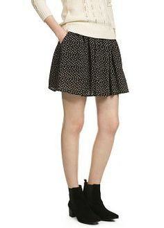 Printed flared skirt - Women - MANGO