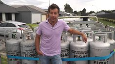 Elgas - 45kg LPG Gas Bottle Exchange and Easygas Delivery Service in Action!