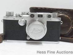 Vintage Leica Leitz Camera Germany 538236 w Kodak Adapter Series V Lens NR