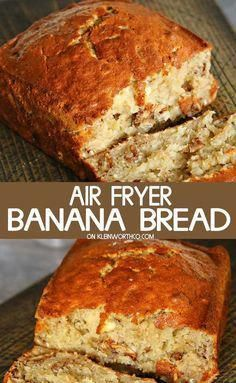 Air Fryer Banana Bread is easy to make & takes only 40 minutes. Loaded with nuts… Air Fryer Banana Bread is easy to make & takes only 40 minutes. Loaded with nuts & delicious banana flavor, it's a classic breakfast recipe, simplified. Air Fryer Recipes Dessert, Air Fryer Recipes Snacks, Air Fryer Recipes Vegetarian, Air Fryer Recipes Low Carb, Air Fryer Recipes Breakfast, Air Frier Recipes, Air Fryer Rotisserie Recipes, Airfryer Breakfast Recipes, Breakfast Meals