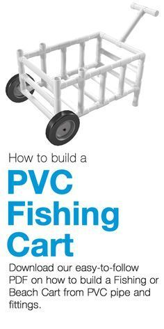 One of the more common built-from-PVC projects, a PVC Fishing Cart can fulfill many roles, as a PVC beach cart, a garden cart or to carry bait, tackle and drinks to your local pier or lake.