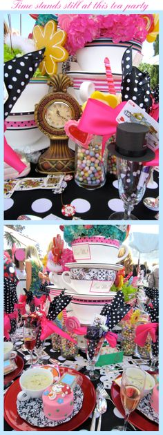 Awesome Alice in Wonderland Garden Tea Party